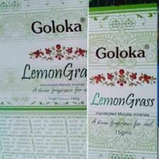 Goloka | Lemongrass | Hand Rolled Masala Incense | 15g Box